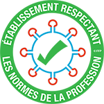 Etablissement respectant les normes de la profession
